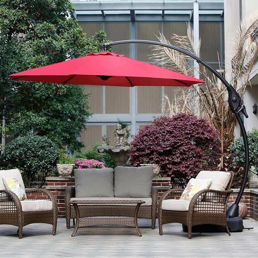 Oversized Patio Umbrellas With Famous 11 Best Large Cantilever Patio Umbrellas With Ideal Shade Coverage (View 15 of 20)