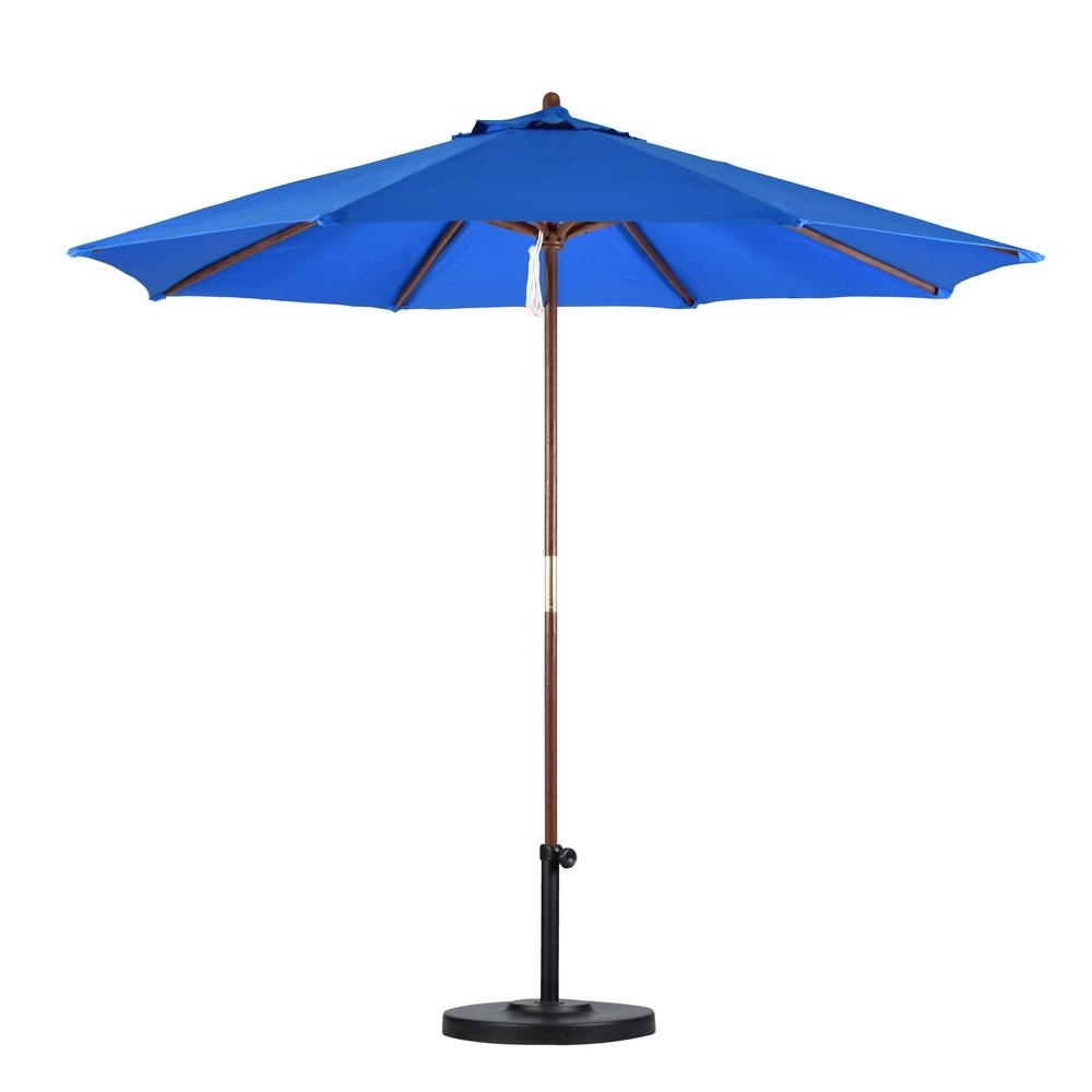 Pacific Blue Patio Umbrellas (View 15 of 20)