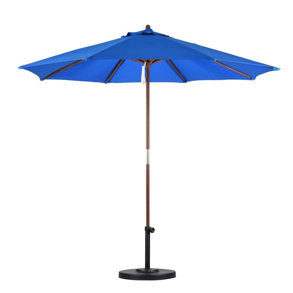 Pacific Blue Patio Umbrellas (View 19 of 20)
