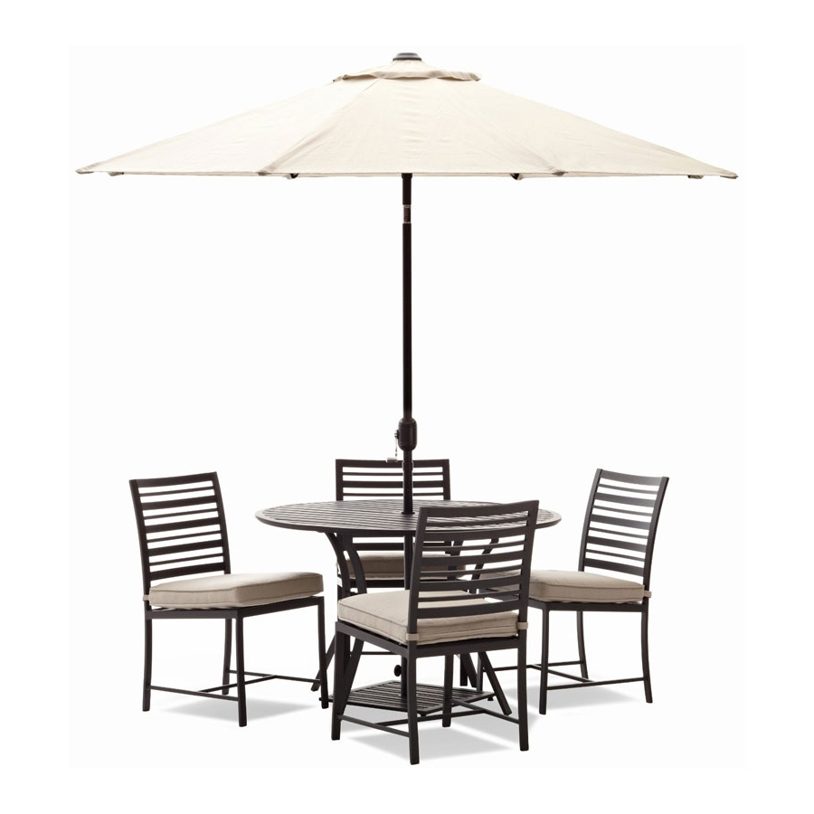 Patio: Astounding Patio Table And Chairs With Umbrella Outdoor For Favorite Patio Sets With Umbrellas (View 18 of 20)
