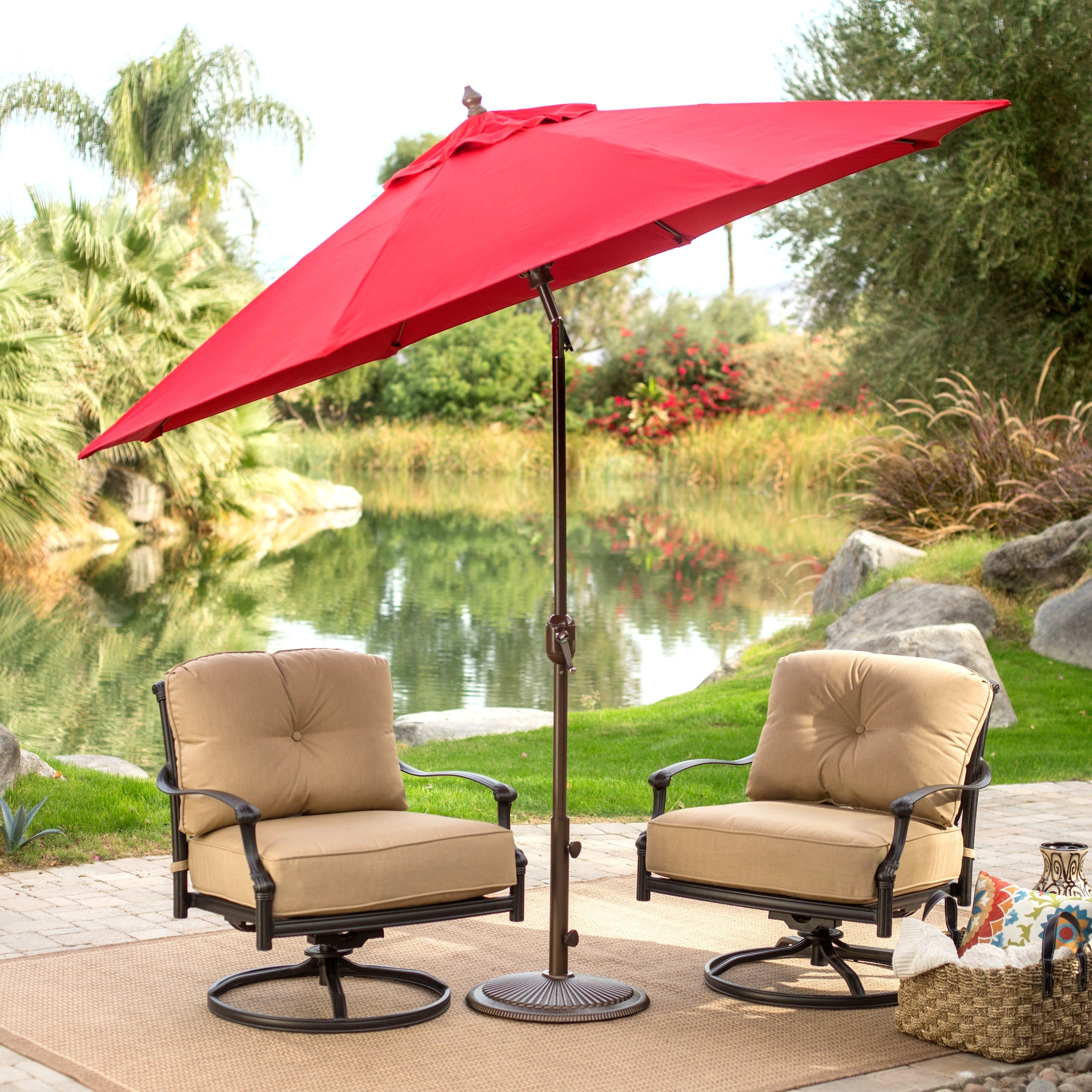 Patio Design Ideas In Free Standing Umbrellas For Patio (View 18 of 20)
