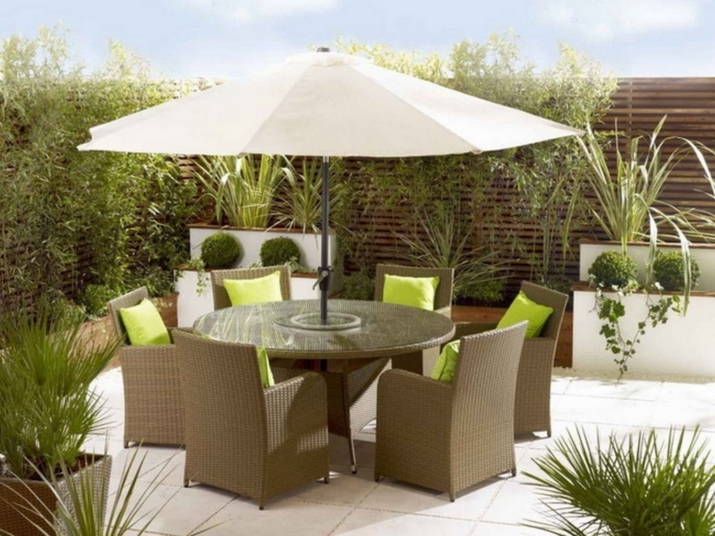 Patio Dining Sets With Umbrellas Regarding Well Liked Furniture Latest Ideas For Outdoor Patio Dining Sets With Patio (View 11 of 20)