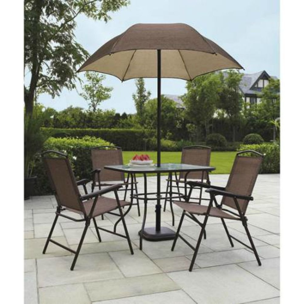 Patio Dining Sets With Umbrellas Within Most Recent Best Outdoor Patio Dining Sets With Umbrella F36x On Most Fabulous (View 19 of 20)