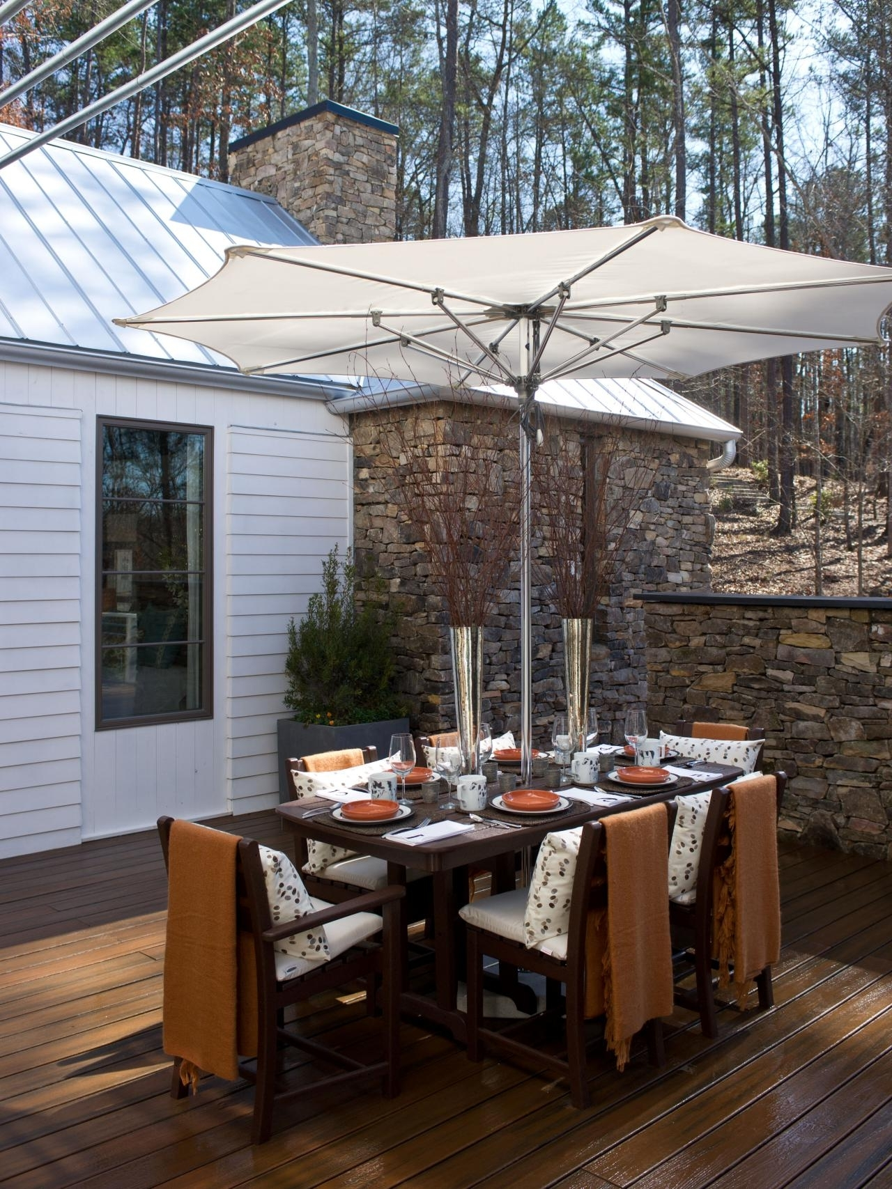 Patio Dining Umbrellas Intended For Best And Newest Patio Dining Sets With Umbrella Surprising Pictures Concept Full (View 9 of 20)