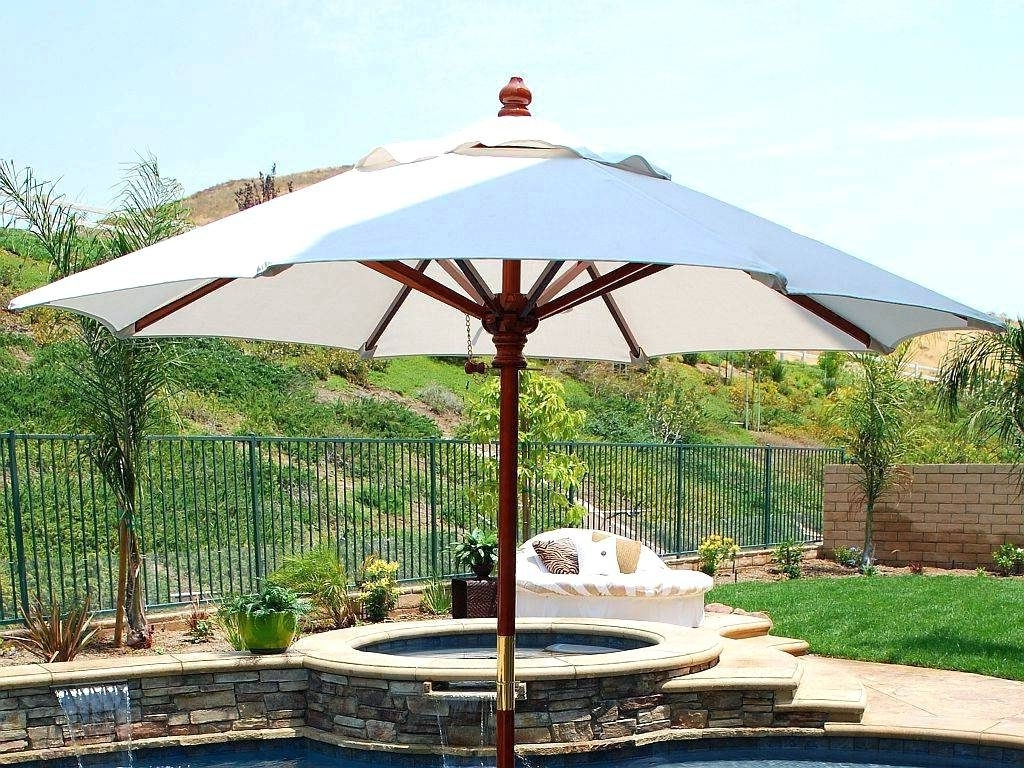 Patio Ideas ~ Best Oversized Patio Umbrella Patio White Round Modern Inside Newest Oversized Patio Umbrellas (View 13 of 20)