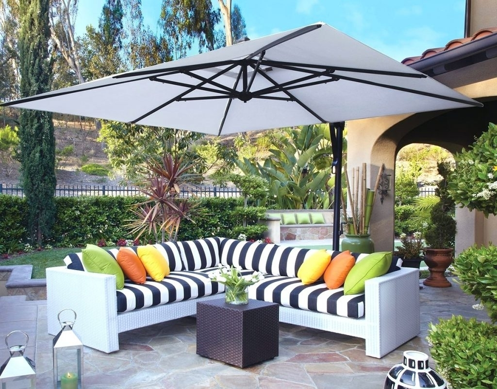 Patio Ideas ~ Patio Umbrella For Windy Days 10 Square Cantilever Within Well Known Patio Umbrellas For Windy Locations (View 14 of 20)