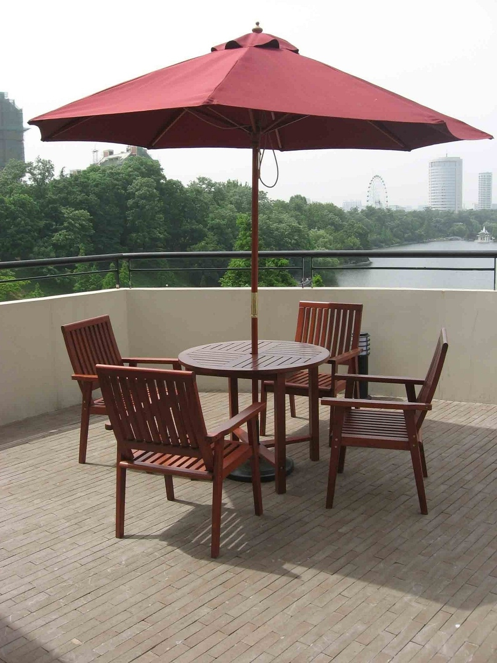 Patio Outdooratio Table Chairs And Umbrellas Umbrella Set Restaurant Pertaining To Latest Patio Furniture With Umbrellas (View 17 of 20)