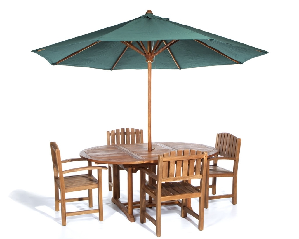 Patio Table Set With Umbrella (View 9 of 20)