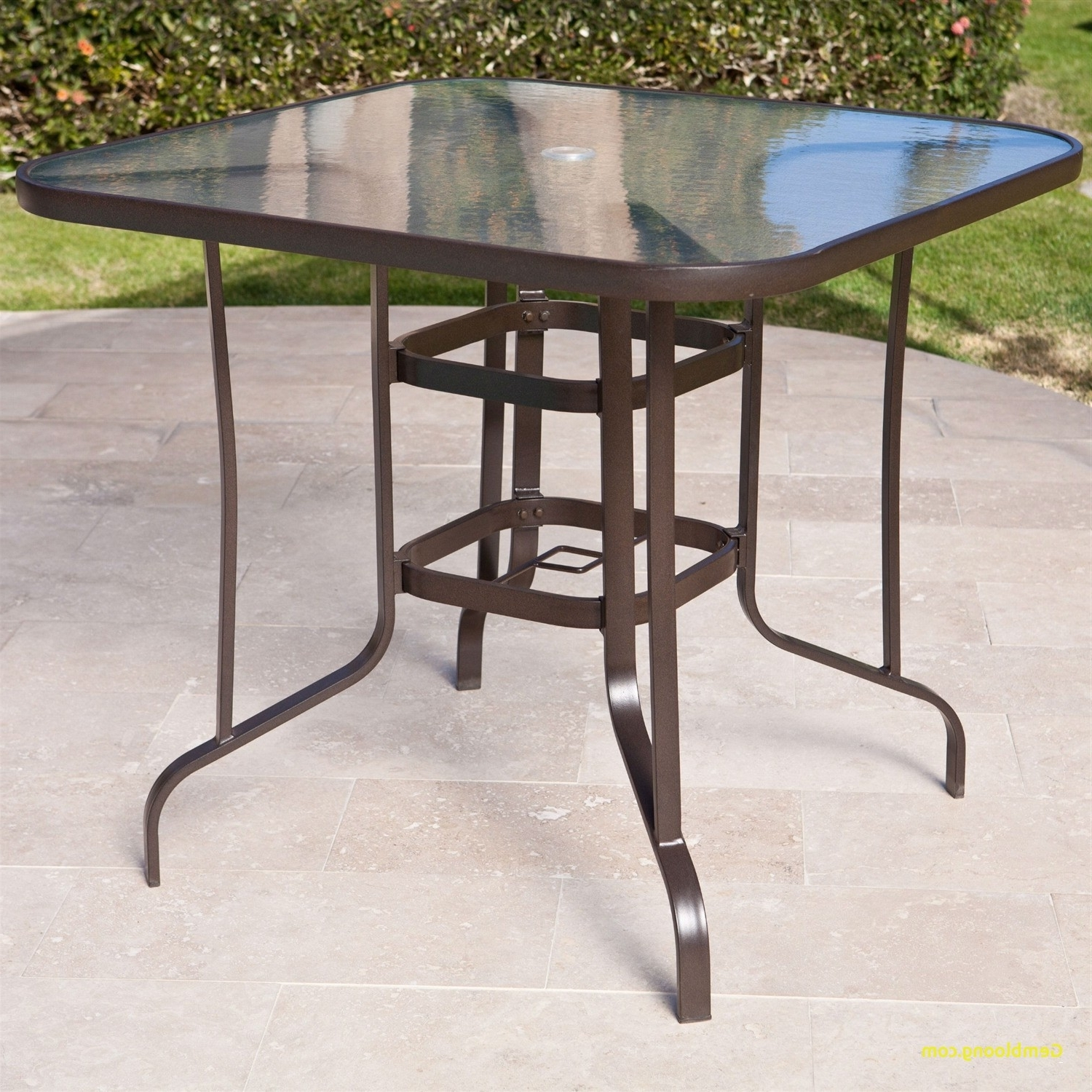 Patio Table With Umbrella Hole – Pelikansurf Pertaining To Well Known Small Patio Tables With Umbrellas Hole (View 9 of 20)