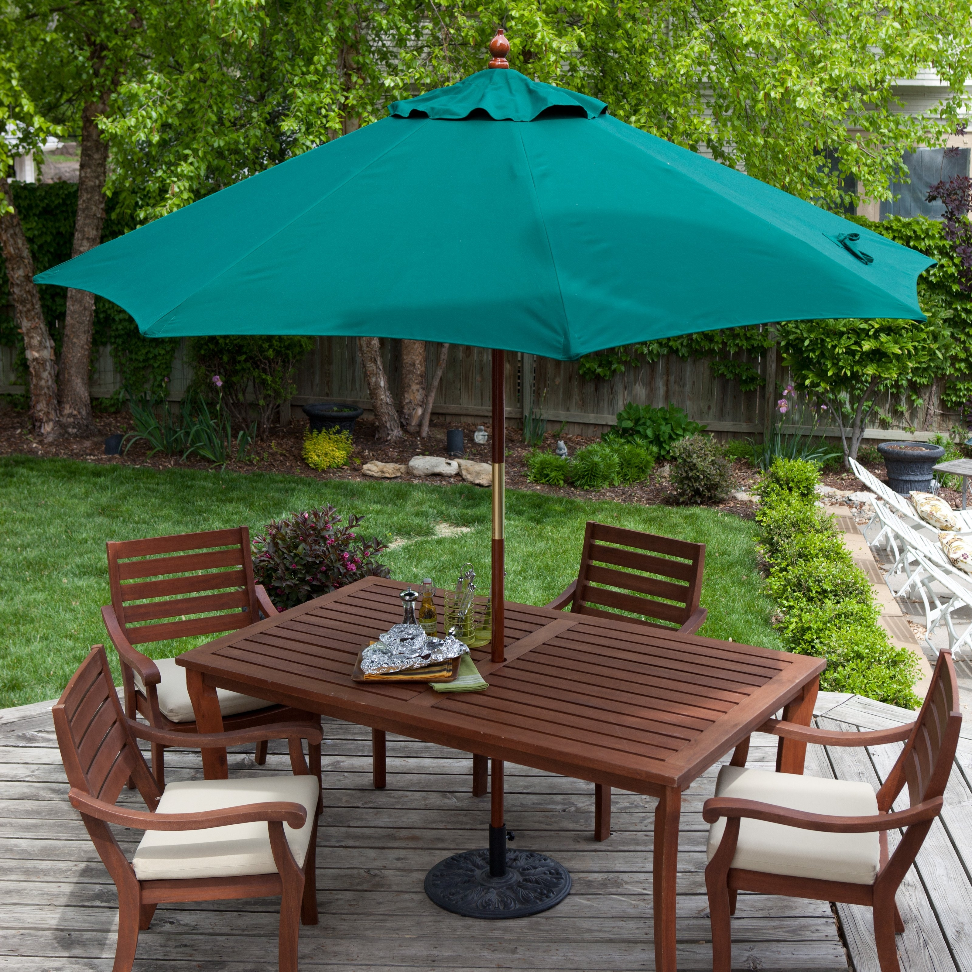 Patio Tables With Umbrellas Pertaining To Well Liked Belham Living 9 Ft (View 15 of 20)