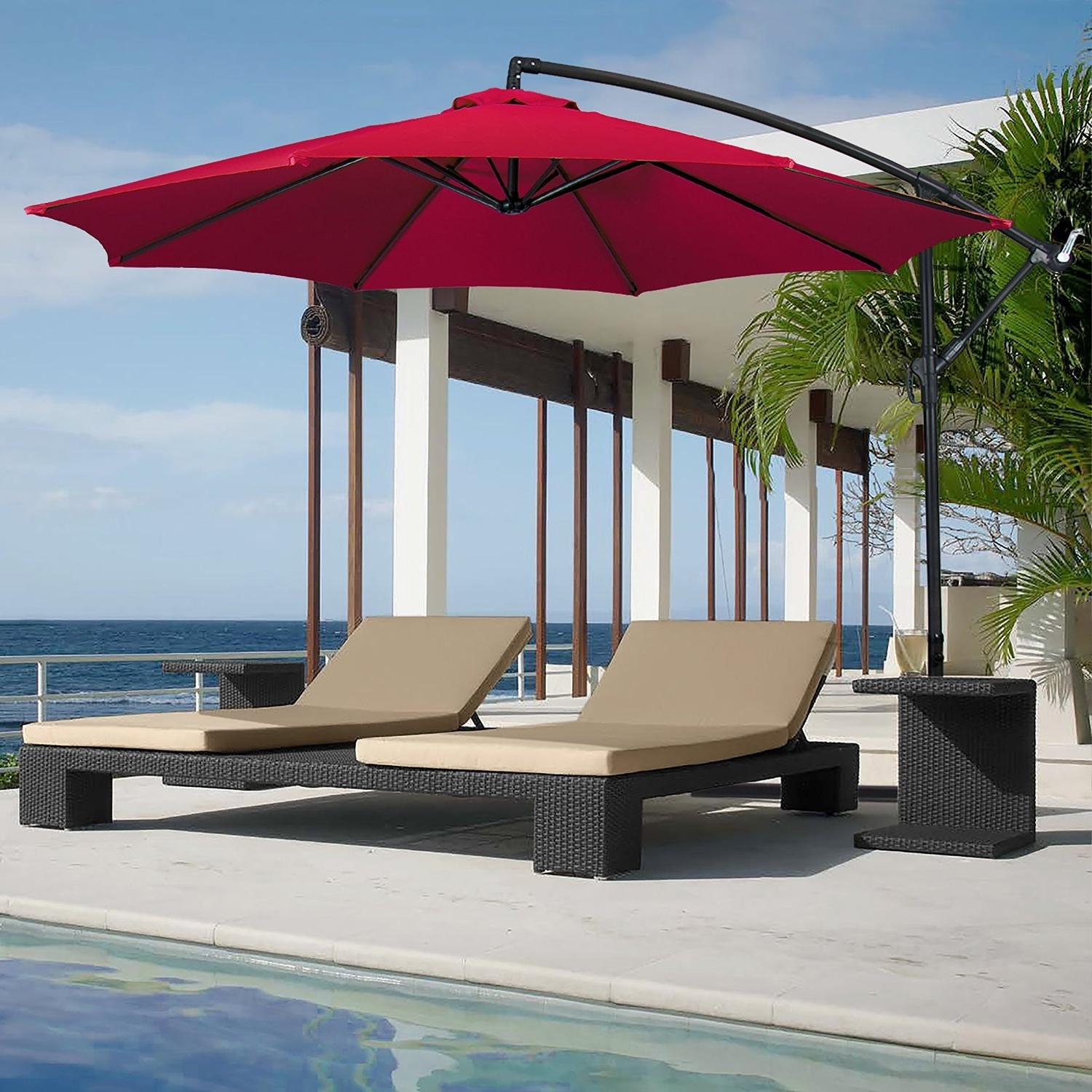 Patio Umbrella Replacement Canopy 8 Ribs Luxury Patio Umbrella Regarding Fashionable High End Patio Umbrellas (View 16 of 20)