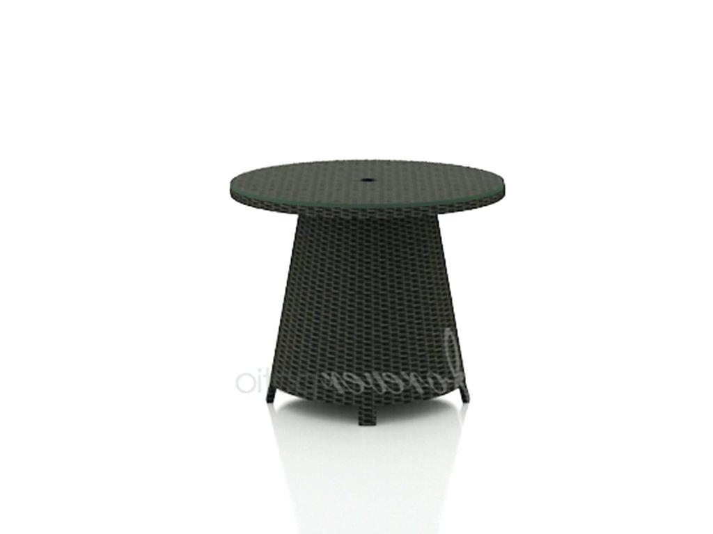 Patio Umbrella Side Tables In Most Recently Released Thresholdtm Heatherstone Wicker Patio Umbrella Side Table • Side (View 11 of 20)