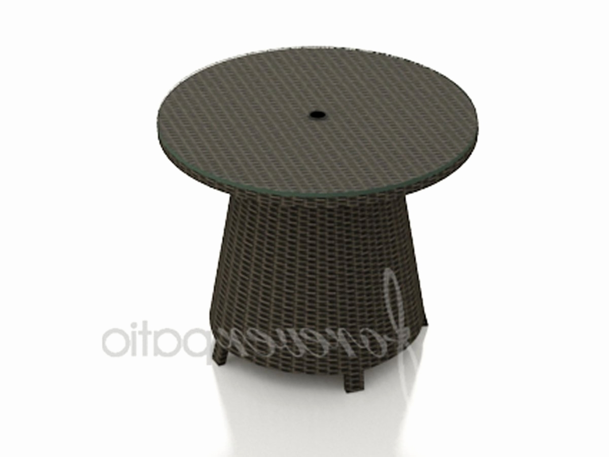 Patio Umbrella Side Tables Intended For Newest Fancy Outdoor Side Table With Umbrella Hole 6 Tree Trunk Coffee (View 11 of 20)