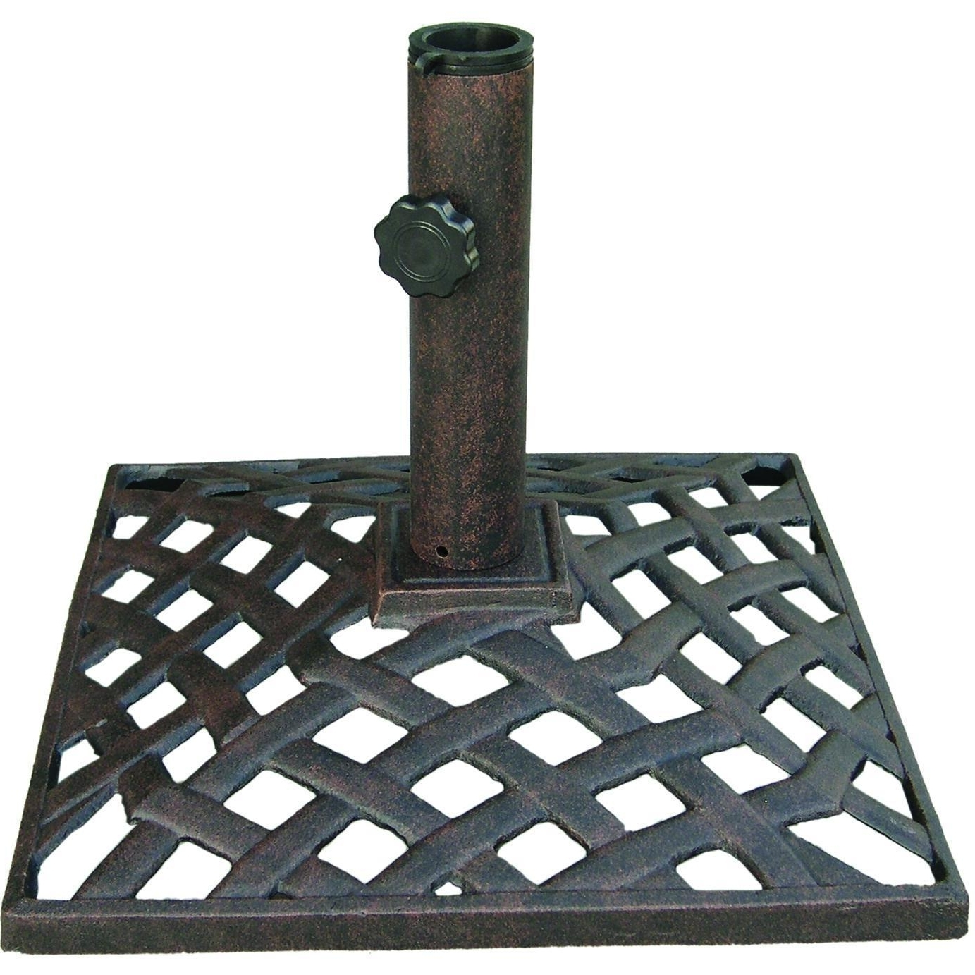 Patio Umbrellas And Bases With Regard To Widely Used Darlee 35 Lb Basket Weave Cast Iron Patio Umbrella Base : Ultimate Patio (View 16 of 20)