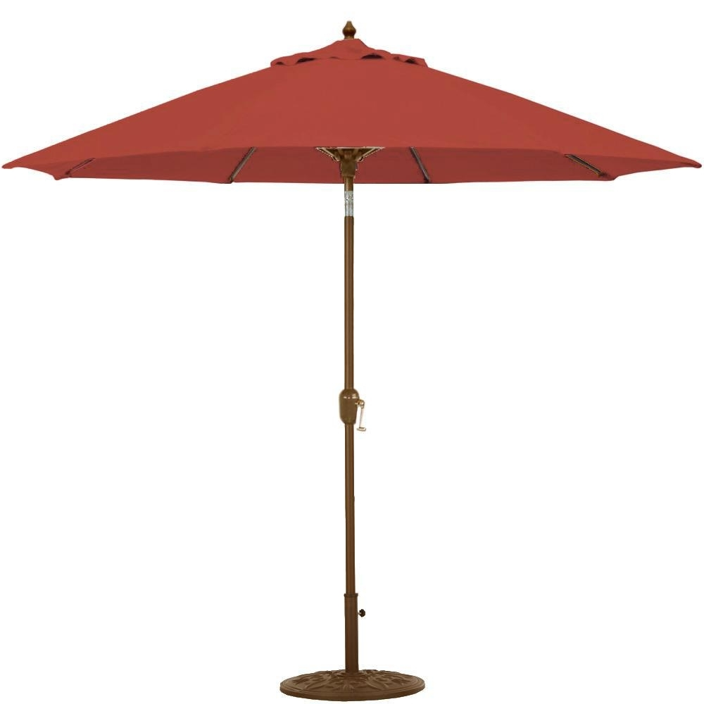 Patio Umbrellas For Bar Height Tables With Newest Galtech 9 Ft (View 19 of 20)