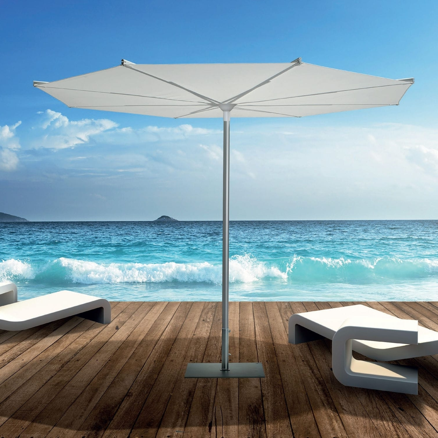 Patio Umbrellas For Windy Locations In Most Recent Commercial Patio Umbrella / For Hotels / Aluminum / Wind Resistant (View 20 of 20)