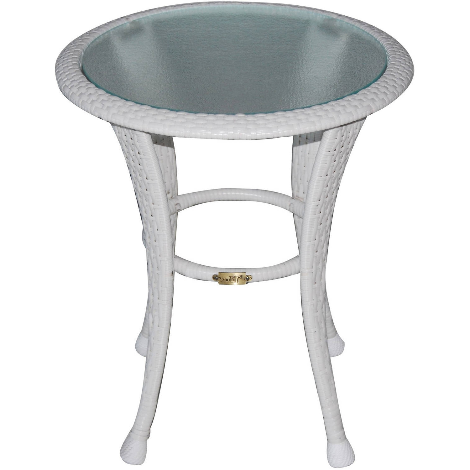"Patio Umbrellas With Accent Table With Regard To Widely Used Better Homes And Gardens Azalea Ridge 20"" Round Outdoor Side Table (View 16 of 20)"