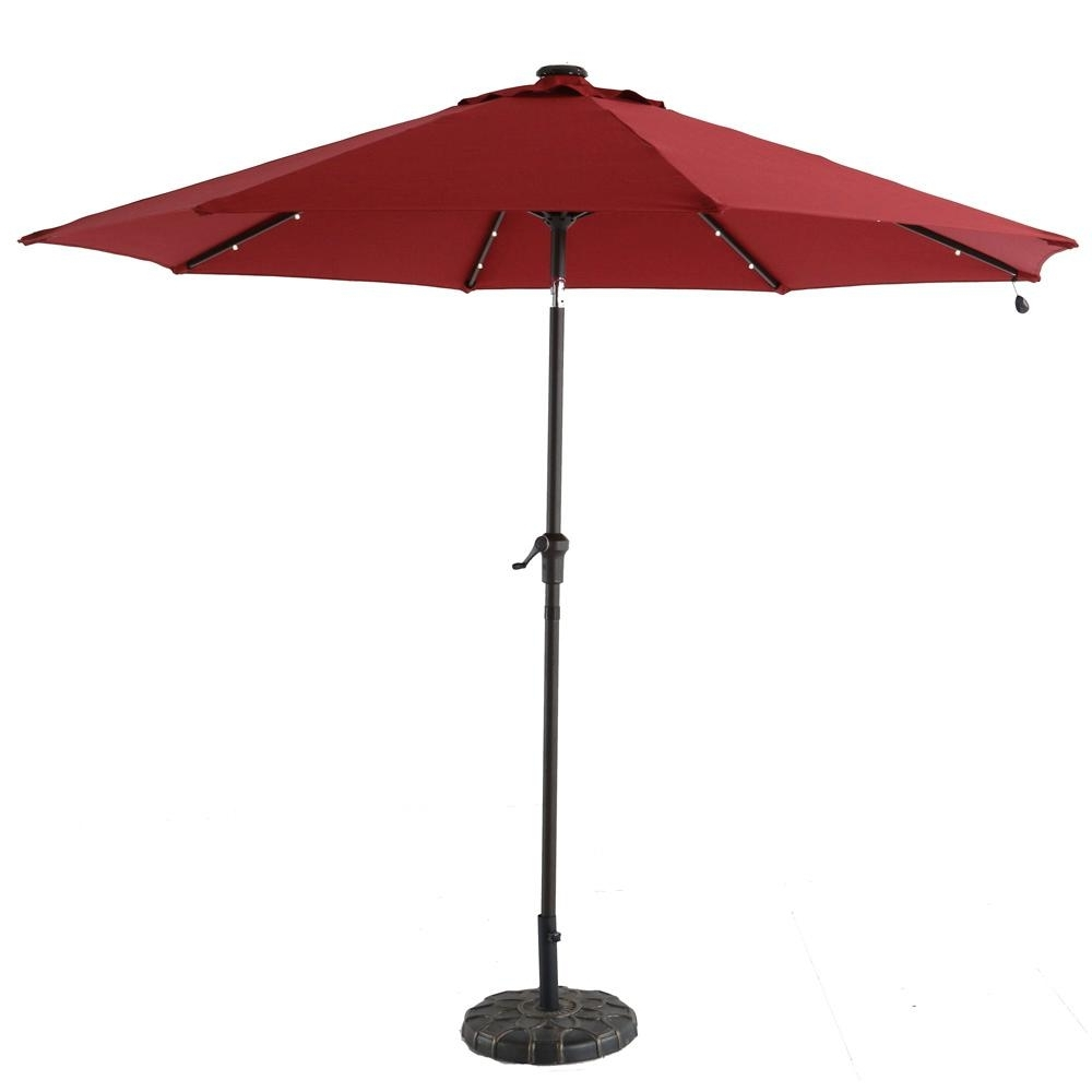 Patio Umbrellas With Fans With Trendy Hampton Bay 9 Ft (View 16 of 20)