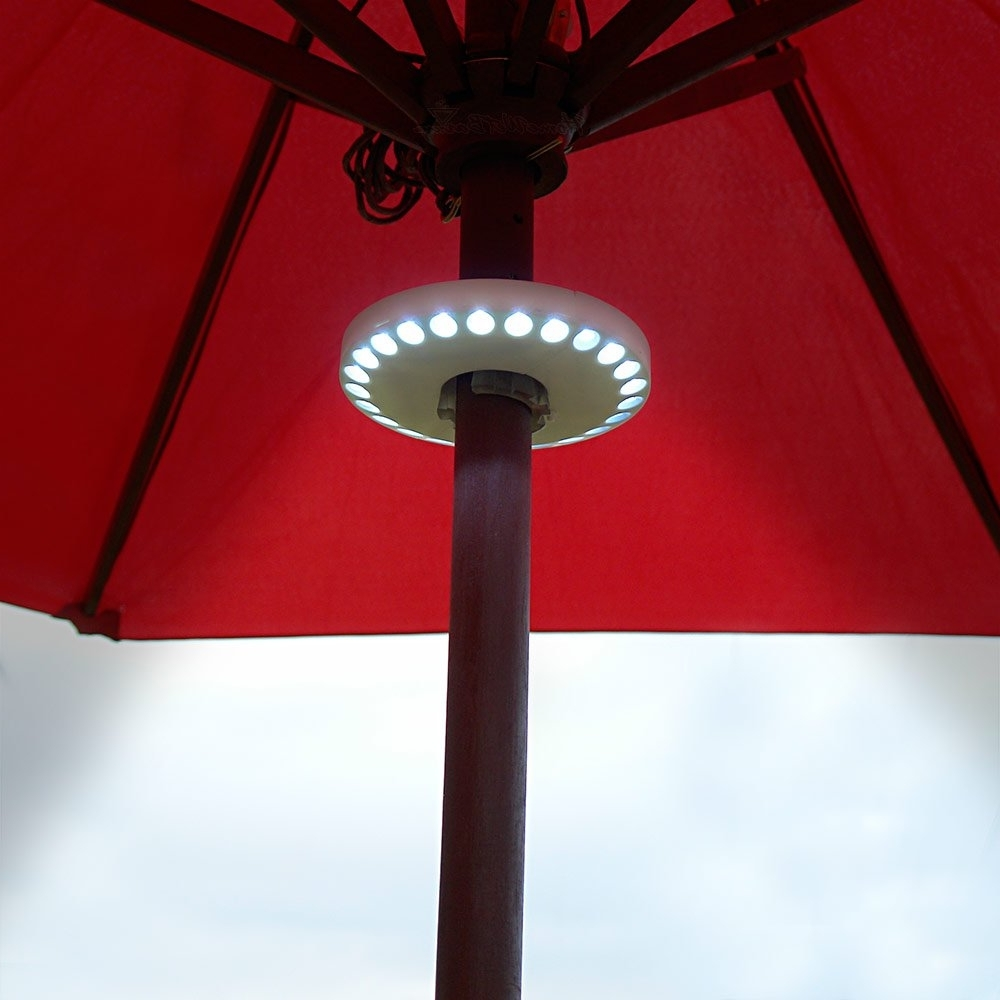 Patio Umbrellas With Led Lights In Most Recent Buy Patio Umbrella Bluetooth Speaker With Led Lights In Cheap Price (View 10 of 20)