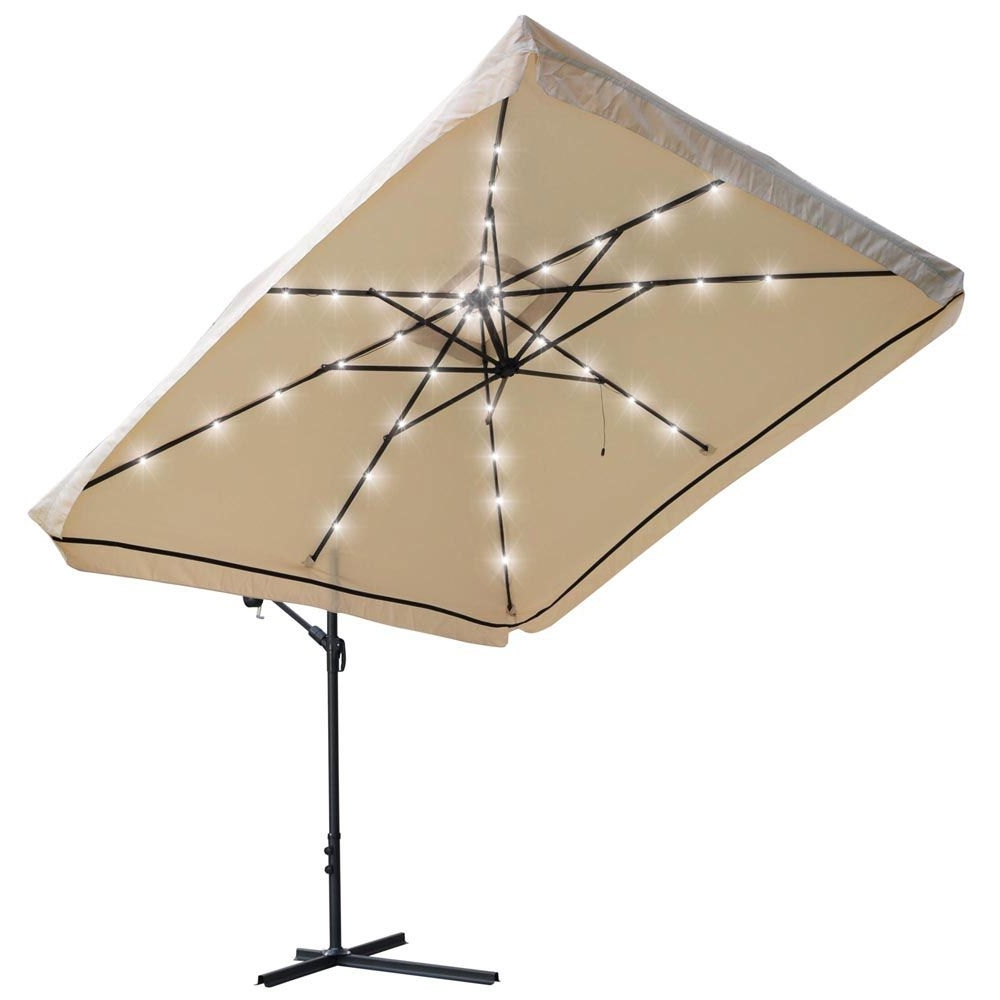 Patio Umbrellas With Led Lights Pertaining To Popular 8 Matching Ribs Construction (View 7 of 20)