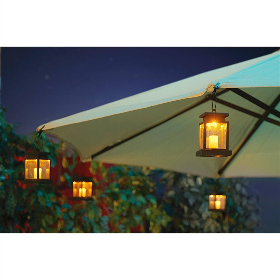Patio Umbrellas With Lights With Newest Outdoor Light : Extraordinary Patio Umbrella Lights Battery Operated (View 12 of 20)