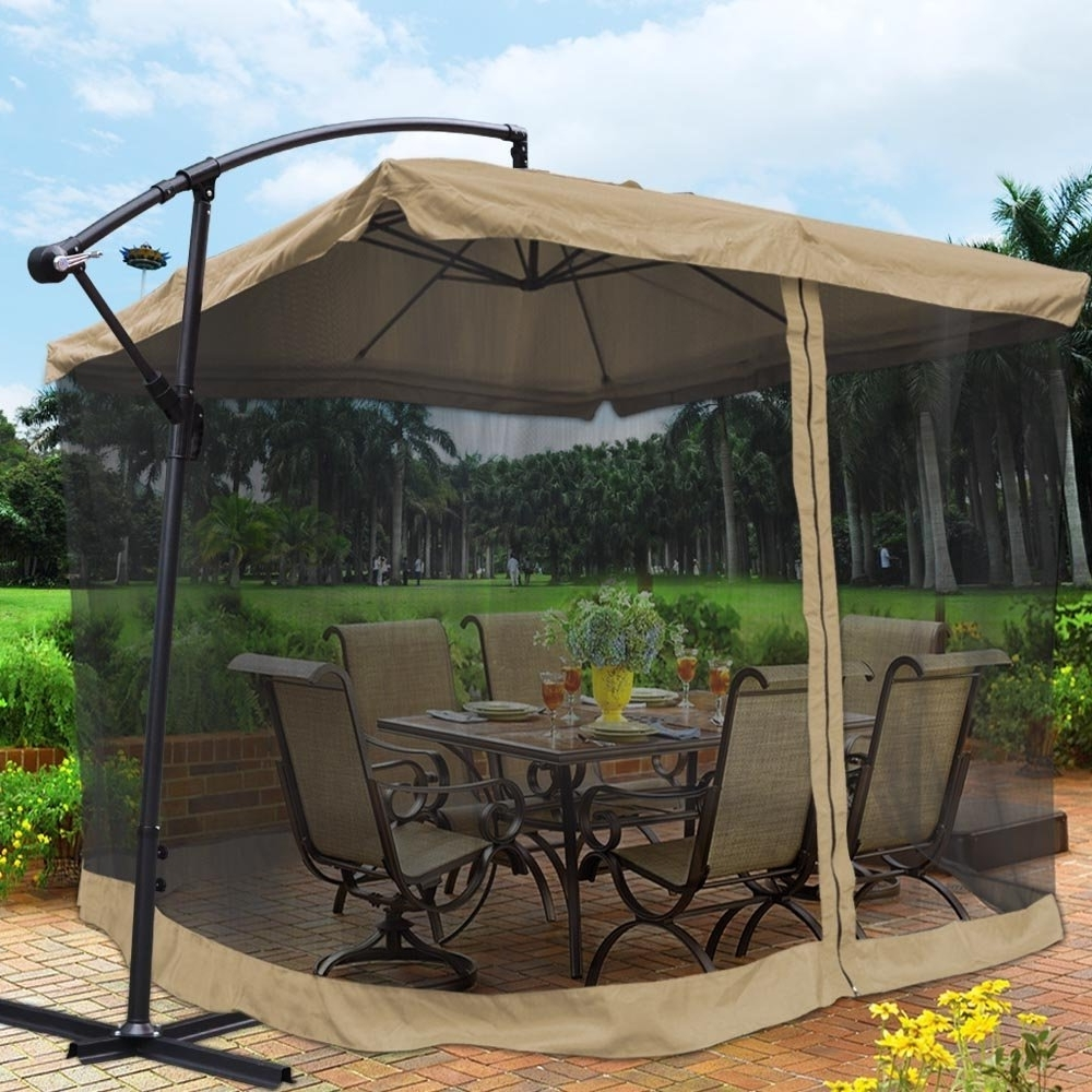 Patio Umbrellas With Netting Inside Well Known Best Mosquito Netting For Patio (View 3 of 20)