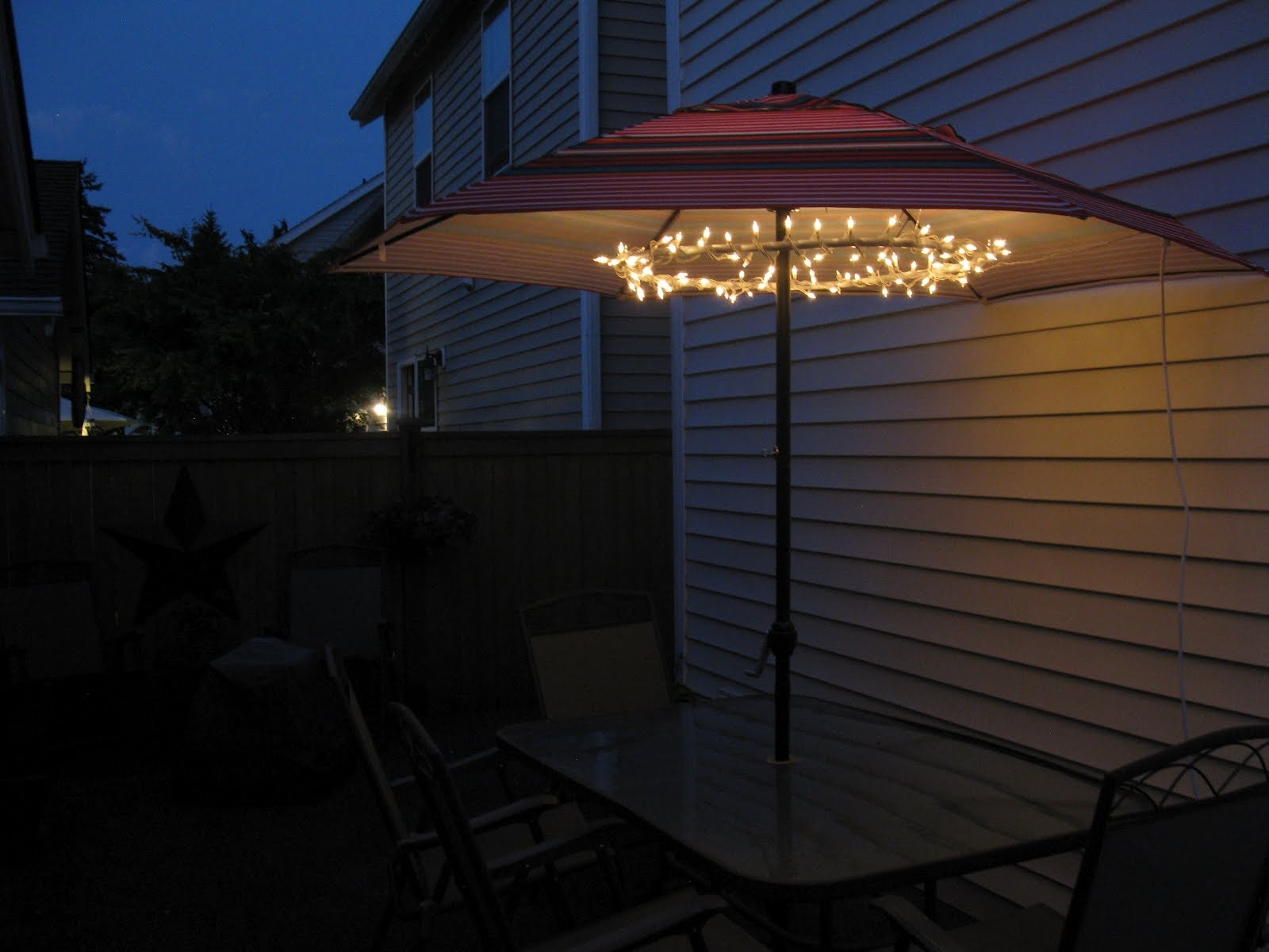 Patio Umbrellas With Solar Lights With Famous Amazing Patio Umbrella Lights — Wilson Home Ideas : Beautiful Patio (View 14 of 20)