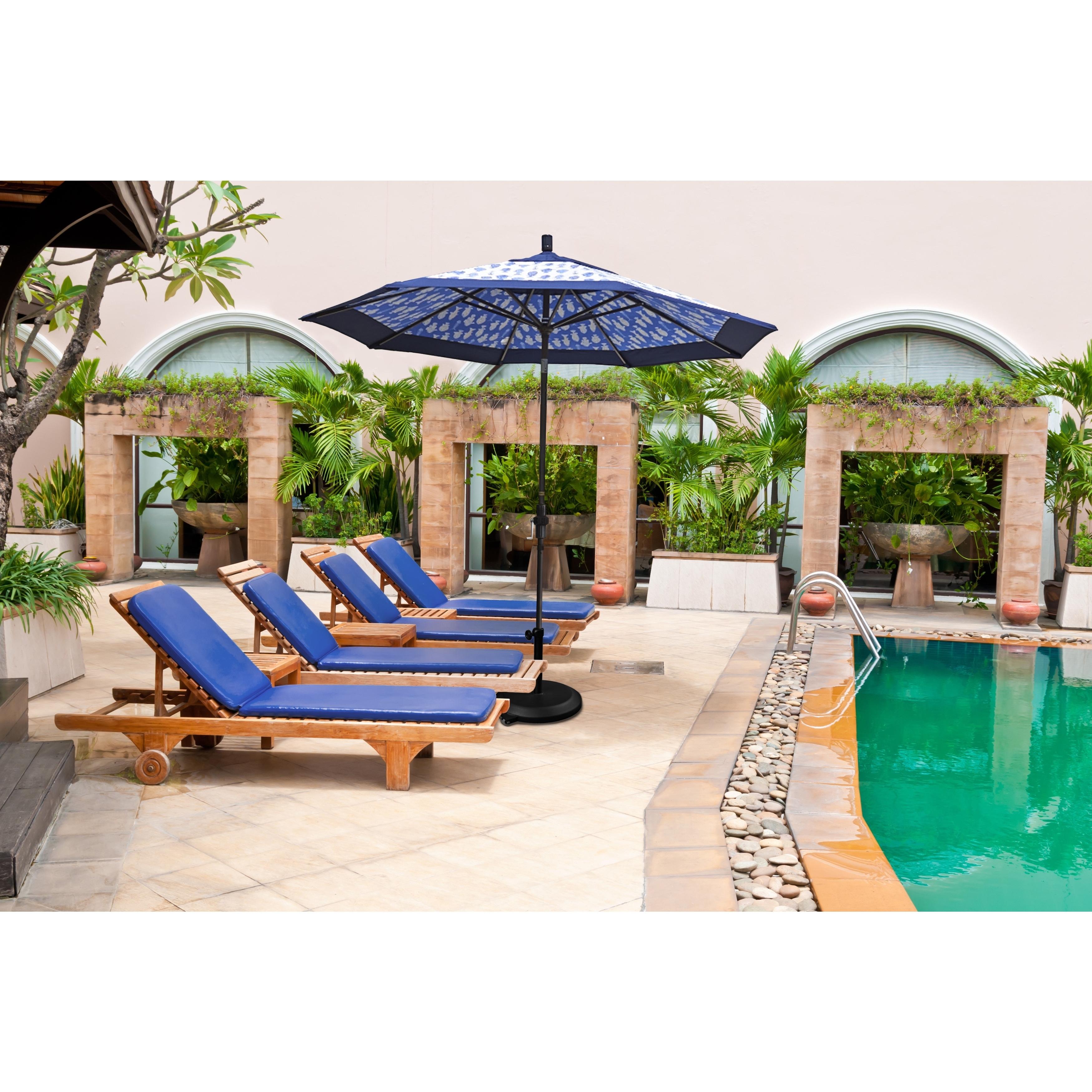 Patio Umbrellas With Sunbrella Fabric In Well Liked Shop California Umbrella 11' Rd (View 18 of 20)