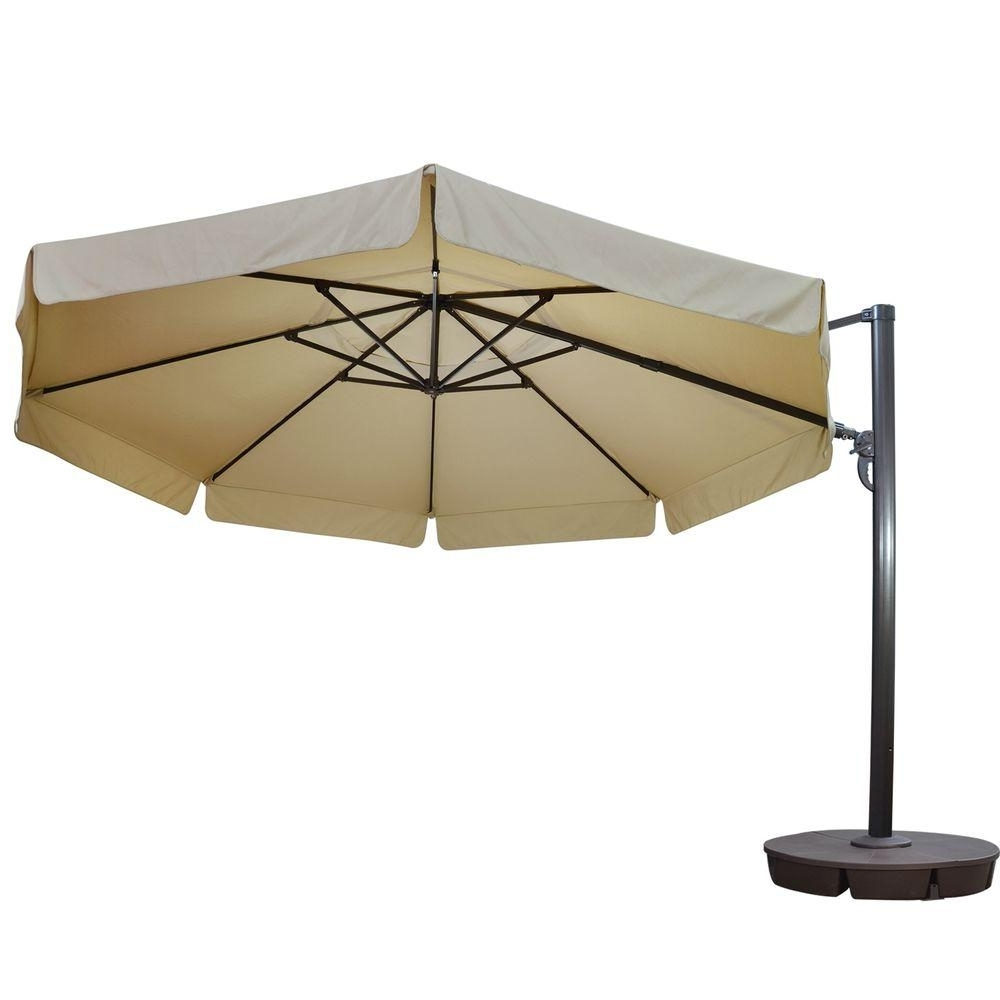 Patio Umbrellas With Valance Pertaining To Well Known Island Umbrella Victoria 13 Ft (View 10 of 20)