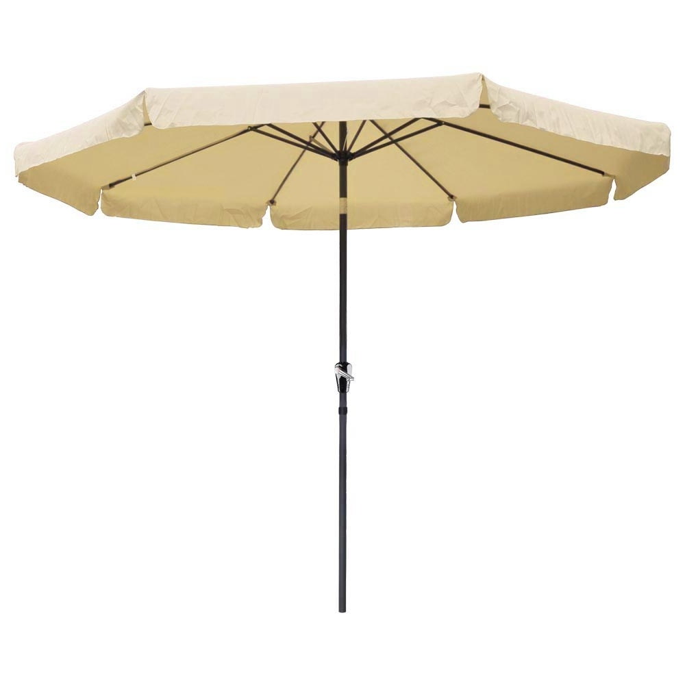 Patio Umbrellas With Valance With Regard To Fashionable 10ft Aluminum Outdoor Patio Umbrella W/valance Crank Tilt Sunshade (View 1 of 20)
