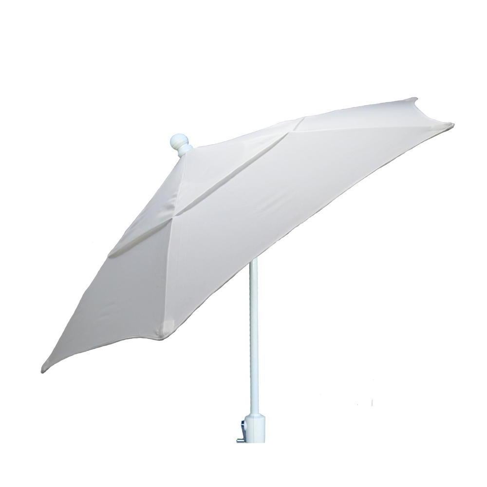 Patio Umbrellas With White Pole Regarding Famous 7.5 Ft (View 14 of 20)