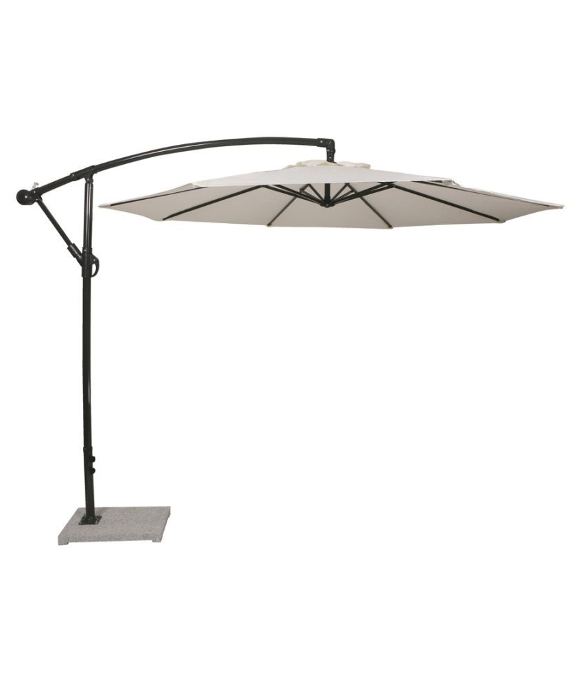 Patio Umbrellas With White Pole With Most Current Luxury Side Pole Umbrella White – Patio Umbrella / Garden Umbrella (View 20 of 20)