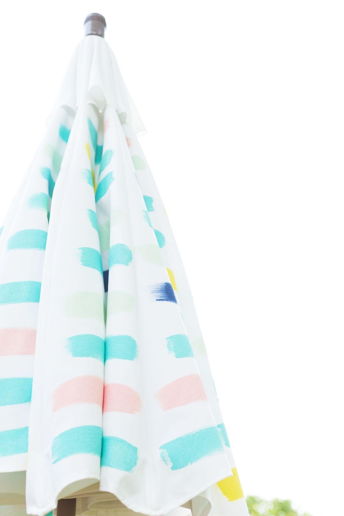 Patterned Patio Umbrellas Inside 2019 Diy Painted Pattern Patio Umbrella (View 8 of 20)