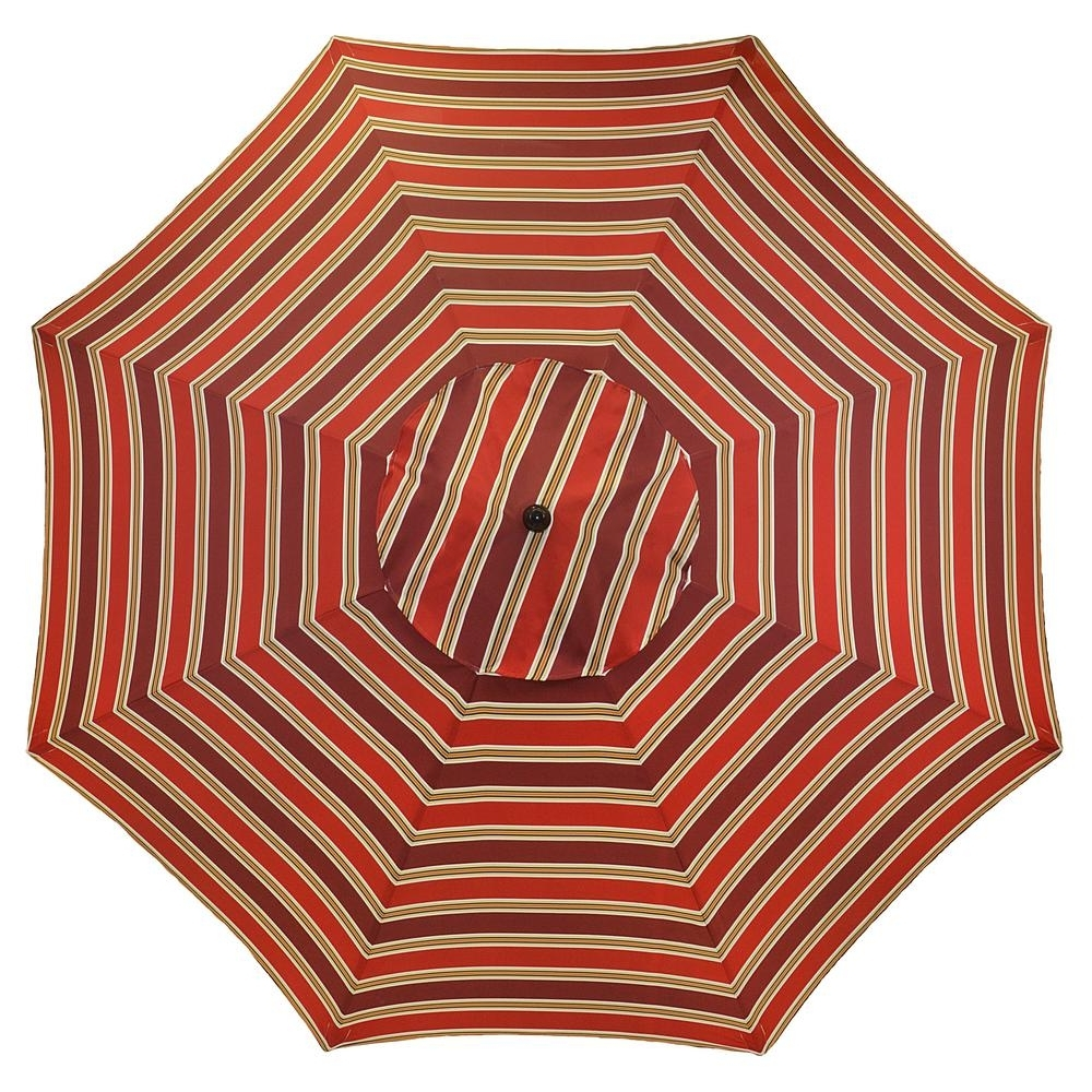 Patterned Patio Umbrellas Intended For Widely Used Plantation Patterns 11 Ft (View 10 of 20)