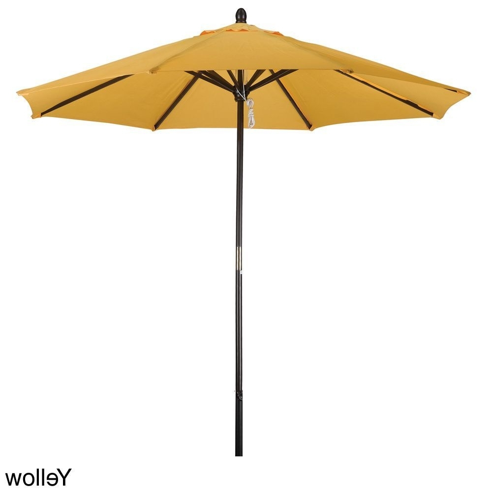 Phat Tommy 9 Foot Market Umbrella (blue) (polyester) #304 9ft Inside Well Known Yellow Sunbrella Patio Umbrellas (Gallery 7 of 20)