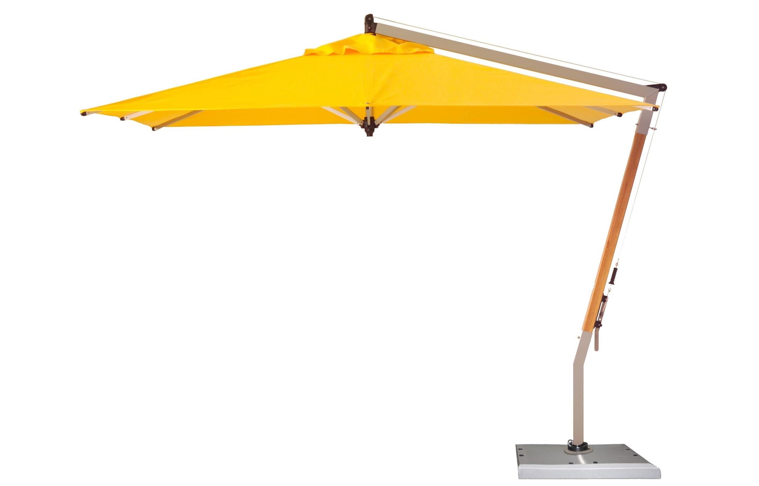 Plush Cantilever Patio Umbrella Cantilever Patio Umbrella Ravenna To Intended For Latest Yellow Patio Umbrellas (View 7 of 20)
