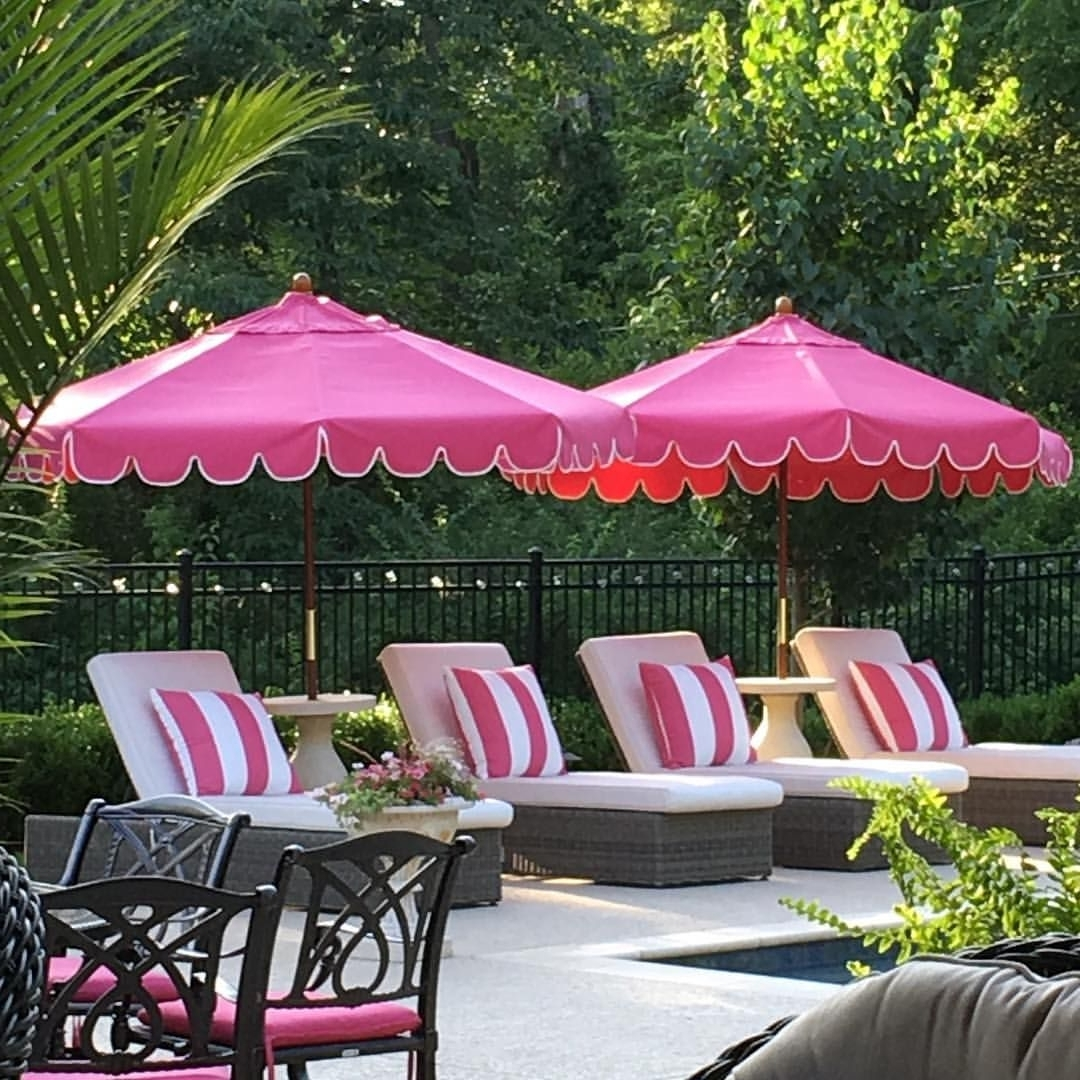 Popular 273 Likes, 14 Comments – Julie Mooney (@julielmooney) On Instagram Throughout Pink Patio Umbrellas (View 1 of 20)
