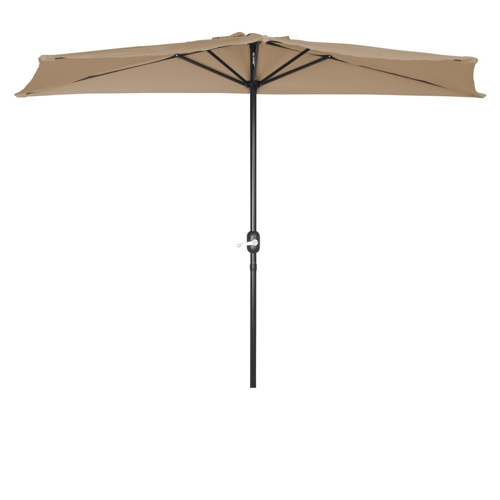 Popular Half Patio Umbrellas Pertaining To Trademark Innovations 9 Ft (View 16 of 20)
