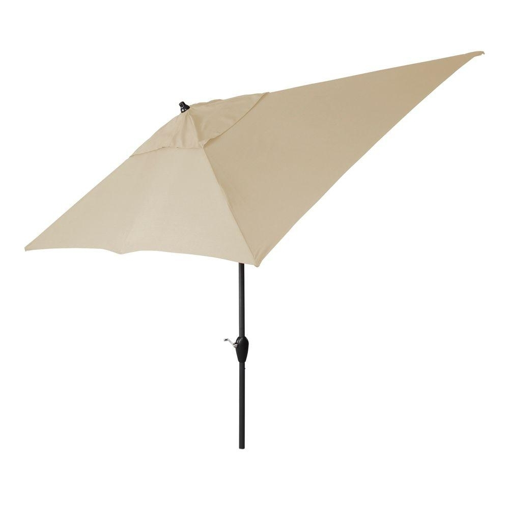 Preferred 6 Ft Patio Umbrellas Regarding Hampton Bay 10 Ft. X 6 Ft (View 17 of 20)