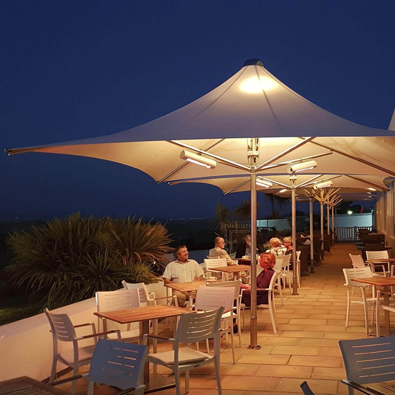 Preferred Commercial Patio Umbrella / Stainless Steel / Pvc / Wind Resistant In Patio Umbrellas For Windy Locations (View 14 of 20)