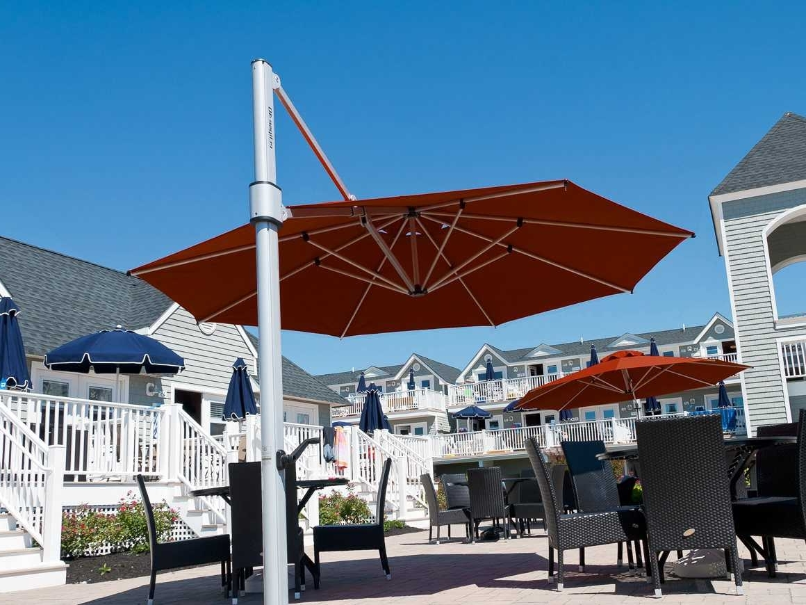 Preferred Frankford Eclipse Commercial Cantilever 13 Foot Wide Octagon Crank Throughout Eclipse Patio Umbrellas (View 16 of 20)