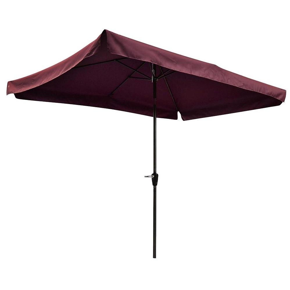 Preferred Yescom Patio Umbrellas Within Yescom 10X65Ft 2X3M Rectangle Aluminum Patio Umbrella With Valance (View 9 of 20)