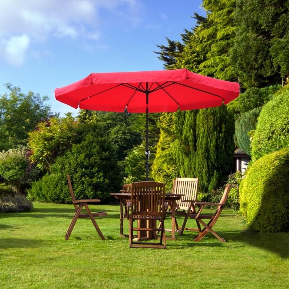 Recent 10ft 8 Ribs Patio Aluminum Umbrella Outdoor Market Garden W/valance Regarding 10 Ft Patio Umbrellas (View 16 of 20)
