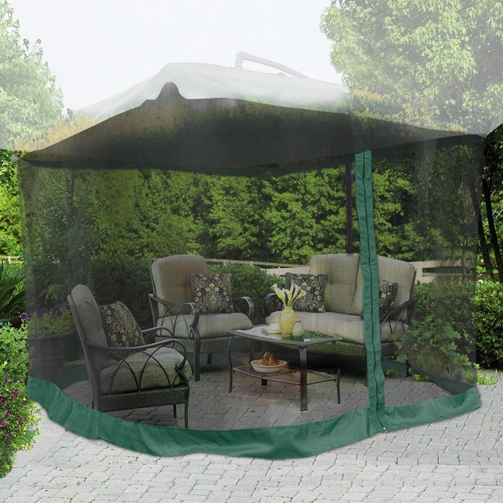 Recent Buy Yescom 9X9 Green Mosquito Netting Screen Mesh Net For Outdoor Throughout Yescom Patio Umbrellas (View 10 of 20)