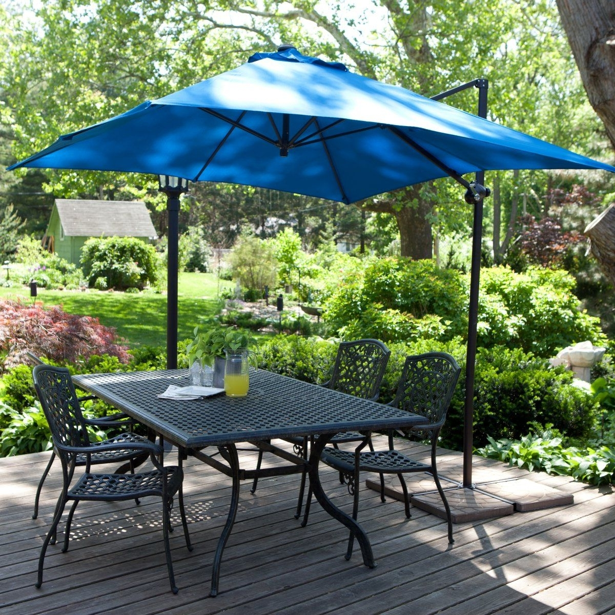 Recent Coral Coast 8 Ft. Square Offset Patio Umbrella (Gallery 18 of 20)