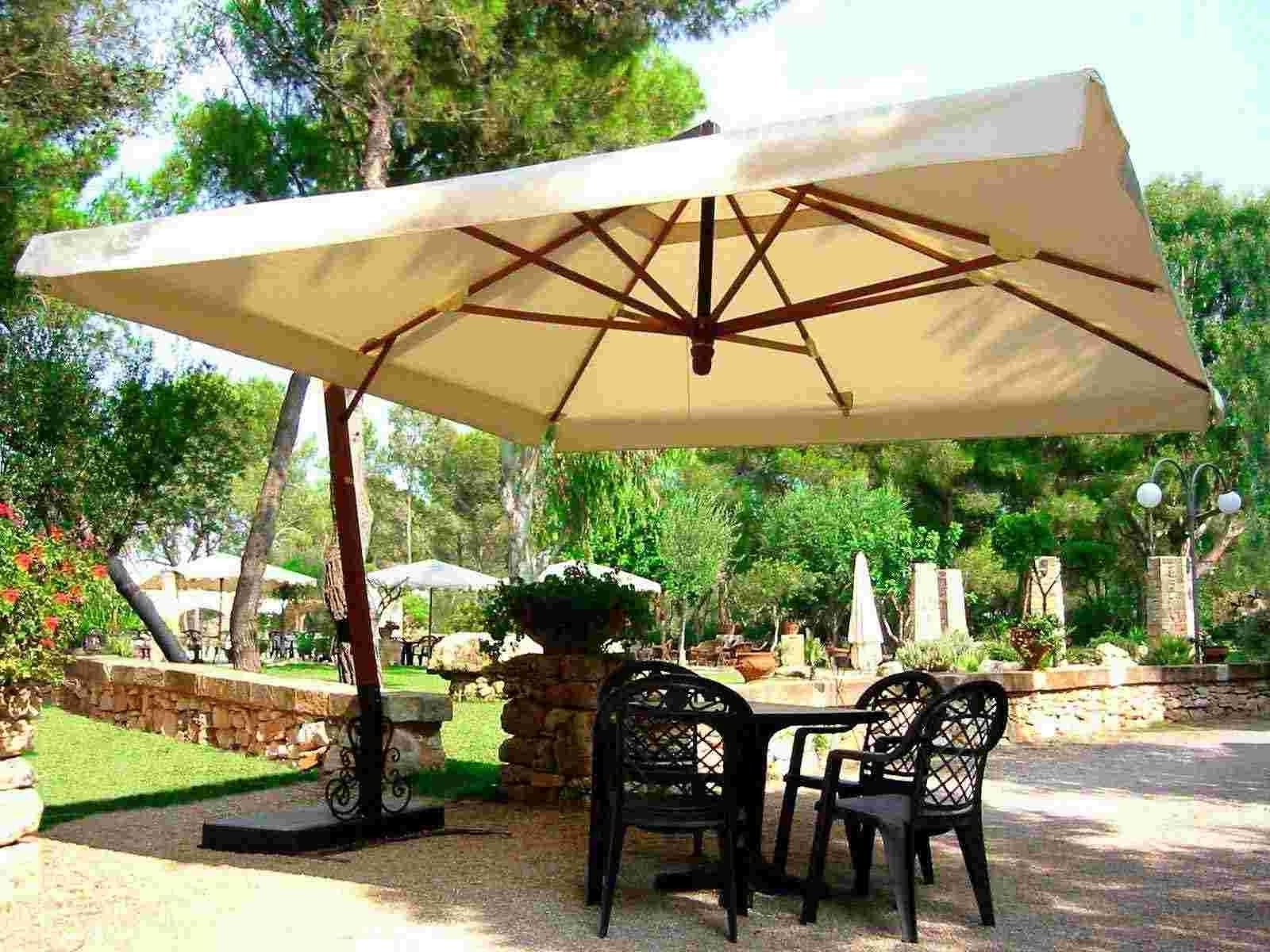 Recent Fancy Rectangular Patio Umbrella With Lights F77X On Perfect Home For Rectangular Patio Umbrellas (View 13 of 20)