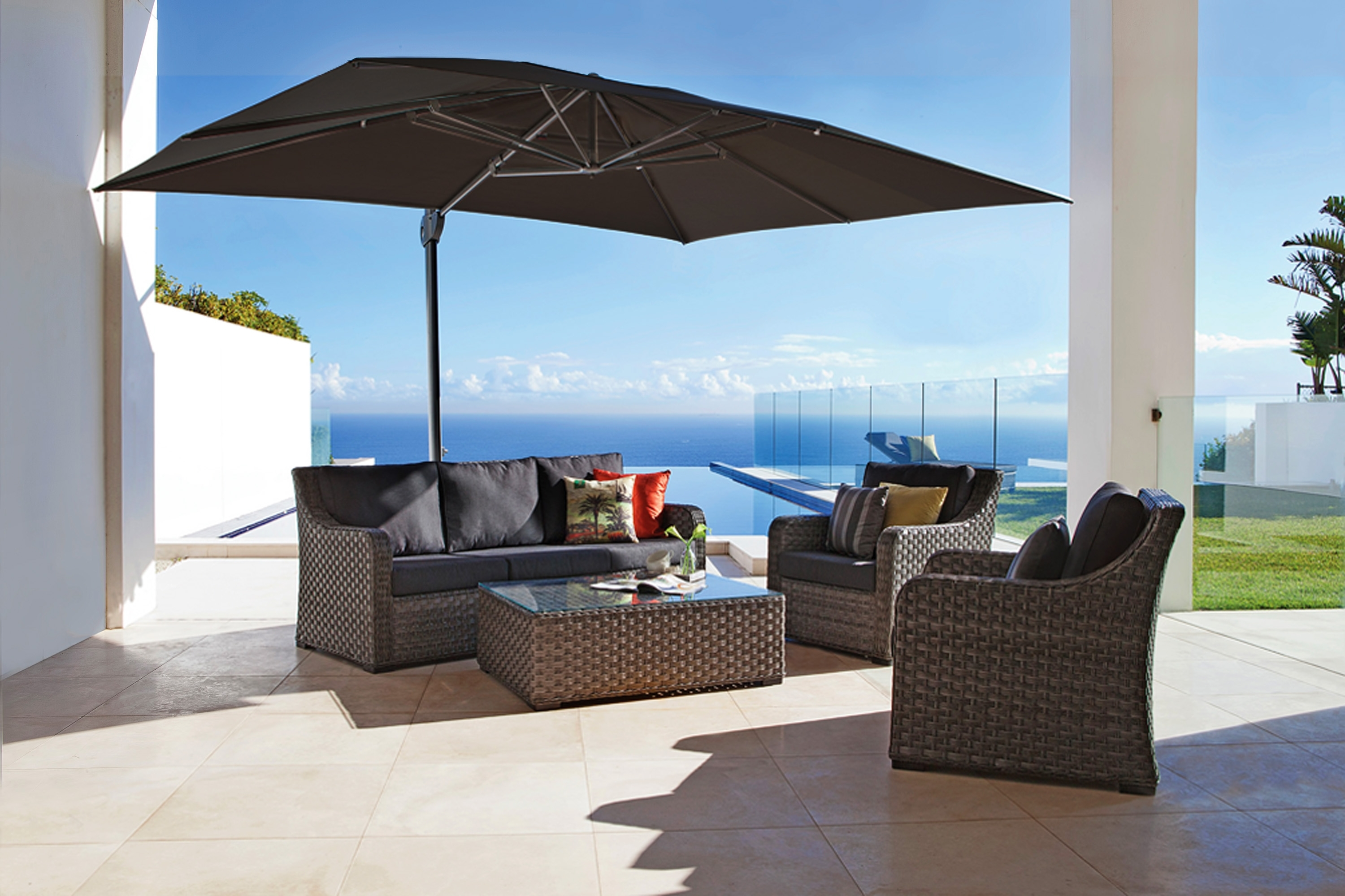 Recent Garden: Enchanting Outdoor Patio Decor Ideas With Patio Umbrellas Regarding Large Patio Umbrellas (View 20 of 20)