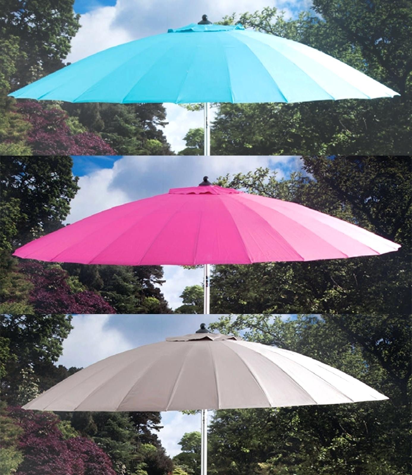 Recent Jumbo Patio Umbrellas Regarding Tips: Best Frontgate Umbrellas With Sunbrella Striped Patio Umbrella (Gallery 14 of 20)