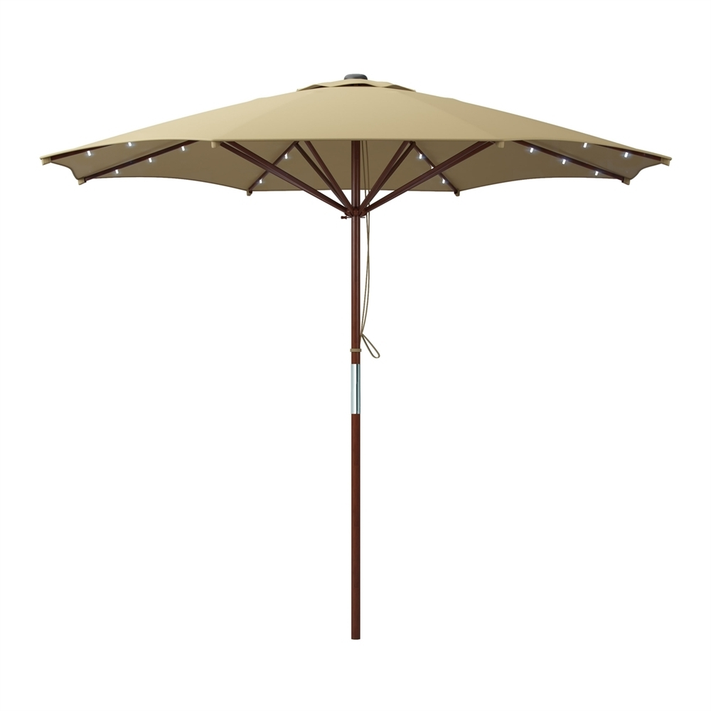Recent Led Patio Umbrellas Within Led Lights Patio Umbrellas (Gallery 9 of 20)