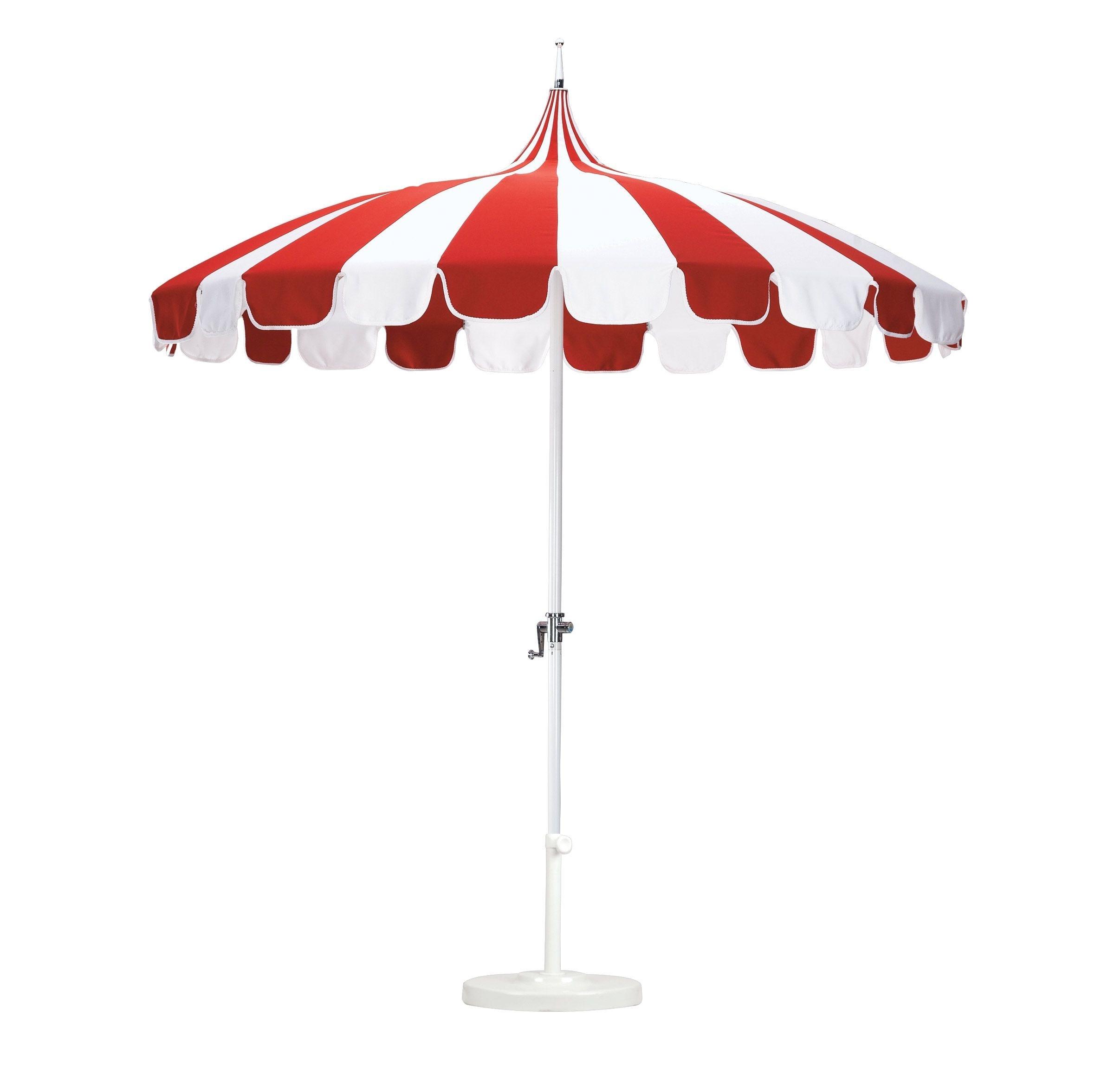 Recent Outdoor Umbrella Weights Lovely Sunbrella Patio Umbrella Look More With Red Sunbrella Patio Umbrellas (View 10 of 20)